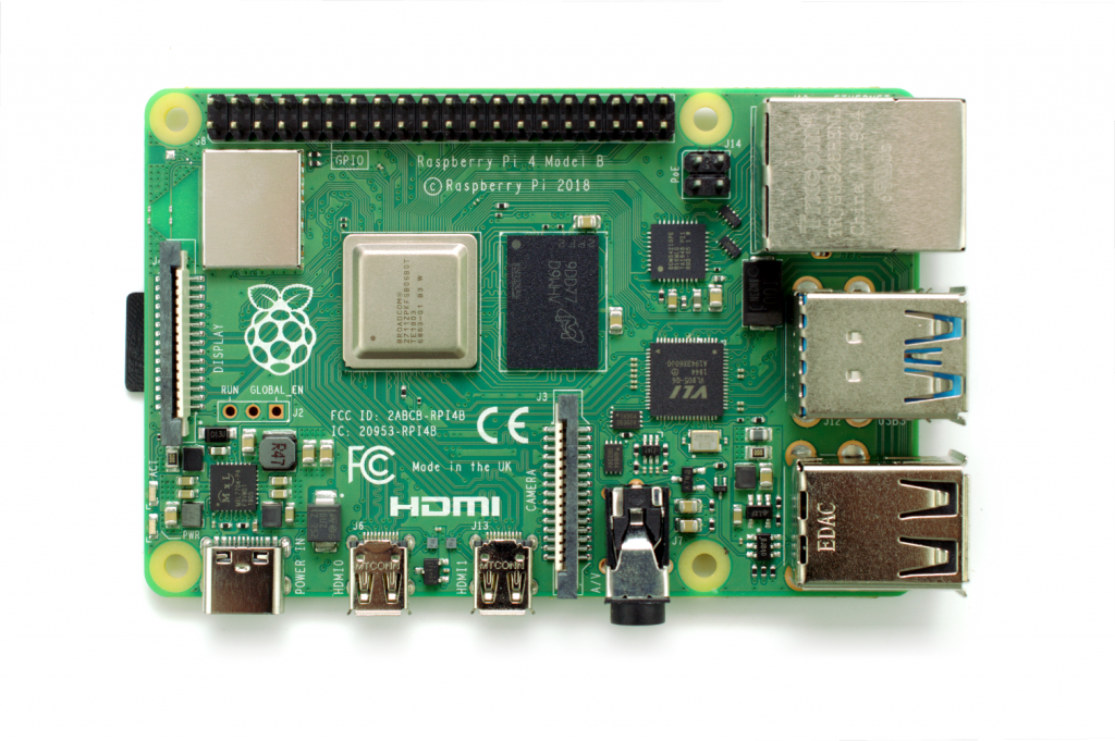 topview of Raspberry Pi 4